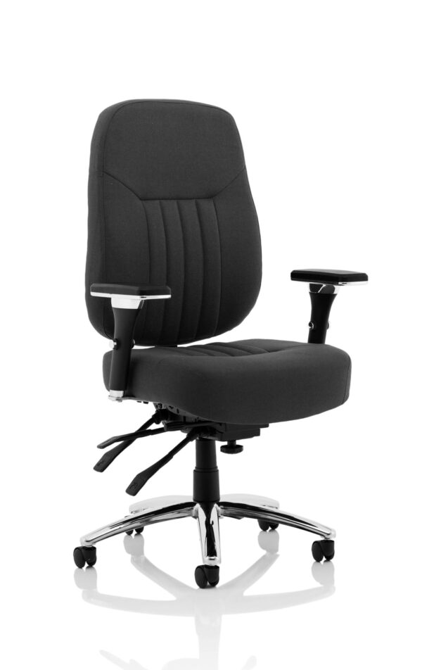 Barce Fabric Seat Swivel Adjustable Office Chair - Black