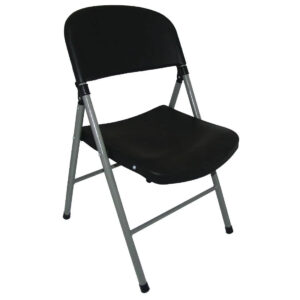 Alex Foldaway Steel Chair Indoor Or Outdoor Use - Black