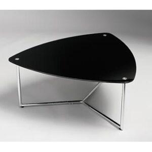 Regot Black Glass Coffee Triangular Table