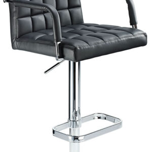 Kaybon Black Retro Bar Stool Height Adjustable Padded Seat And Arms