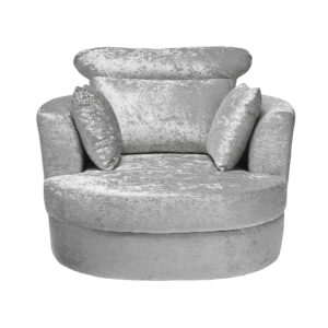 Blacy Large Swivel Chair Silver