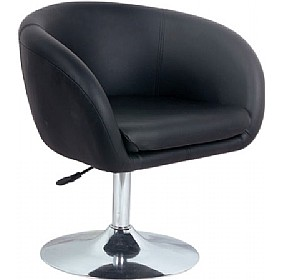 Bell Faux Leather Swivel Tub Chair Height Adjustable - White