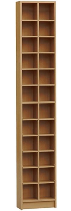 Camony Tall Sleek Cd Dvd Media Storage Tower Shelves - Oak