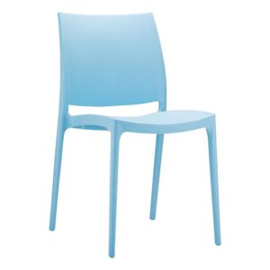 Kirk Stackable Side Chair - Commercial Quality Fully Assembled - Blue