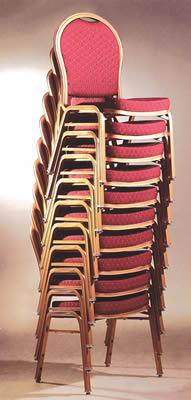 Balliol 4 Cresdi Aluminium Red Arched Back Banquet Chair