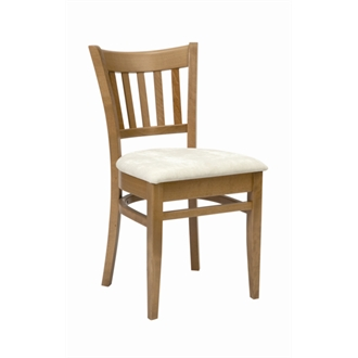 Sonya Kitchen Dining Chair Oak Frame Cream Padded Seat Fully Assembled Commercial Quality