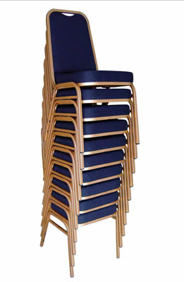 4 Liret Steel Square Back Banquet Chairs