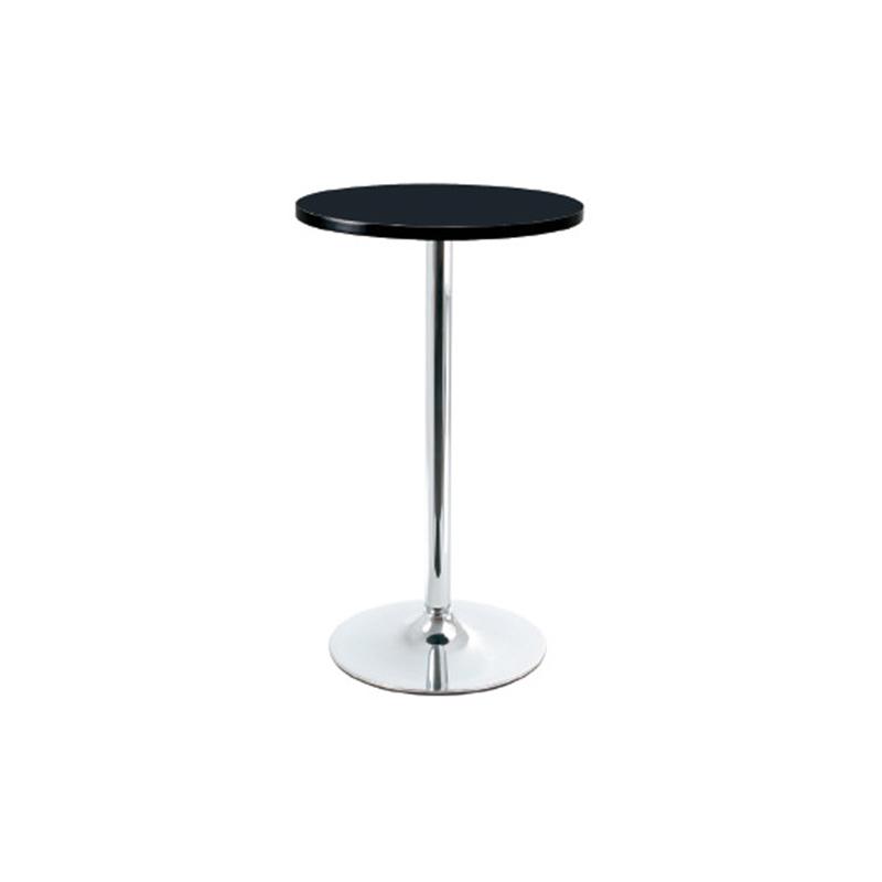 Bonetti Wood Poseur Tall Round Bar Table - Black