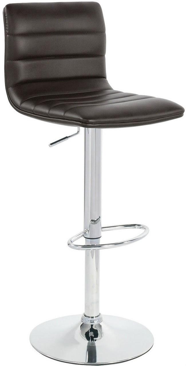 Vista Breakfast Bar Stool Brown Padded Seat Height Adjustable