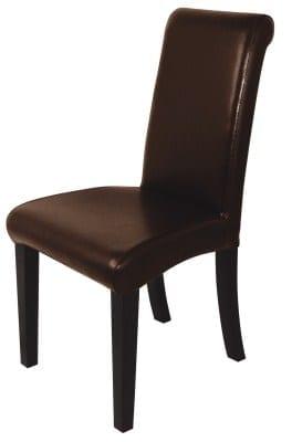 Dean Dark Brown Leather Upholstered Banquet Chair
