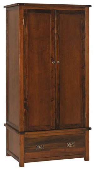 Bermont Dark Antiqued Softwood 2 Door