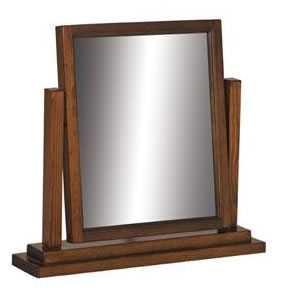 Bozz Antique Wood Frame Mirror - Dark Brown