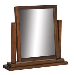 Bozz Antique Wood Frame Mirror - Dark Brown