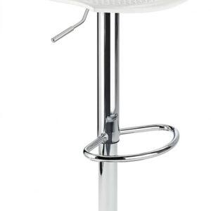Blazar White Modern Kitchen Bar Stool Height Adjustable
