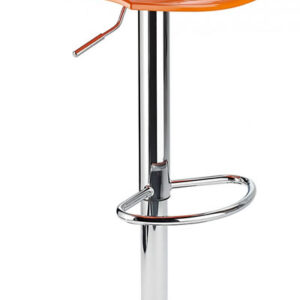 Blazar Orange Modern Kitchen Bar Stool Height Adjustable