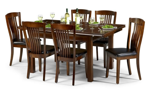 Cayton Dining Set Mahogany Finish - Fully Assembled Chairs