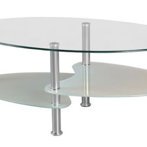 Carmel Clear And Frosted Glass Coffee Table