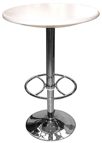 Carboni White Adjustable Tall Kitchen Bar Table
