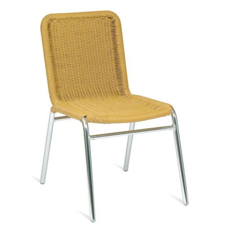 Eloise Beige Wicker And Aluminium Chair - Outdoors