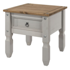Coson Grey Pine Lamp End Telephone Table With Drawer
