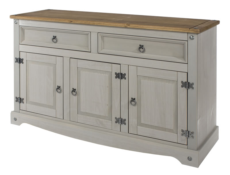 Coson Grey Pine Medium Sideboard With Adjustable Shelf