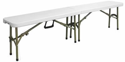 Restine Folding Bench Polyethylene Top And Steel Frame