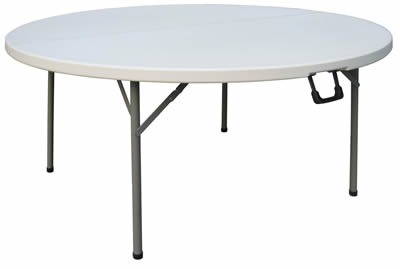 Restine Large Round Centre Folding Banqueting Table 5Ft Diameter Commercial Quality