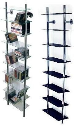 Max Clear Glass And Metal Storage Shelves - Wall Mounted