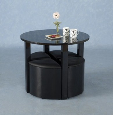 Charm Round Table And 4 Chairs - Stowaway