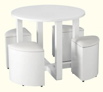 Charmaray Stowaway Dining Set White