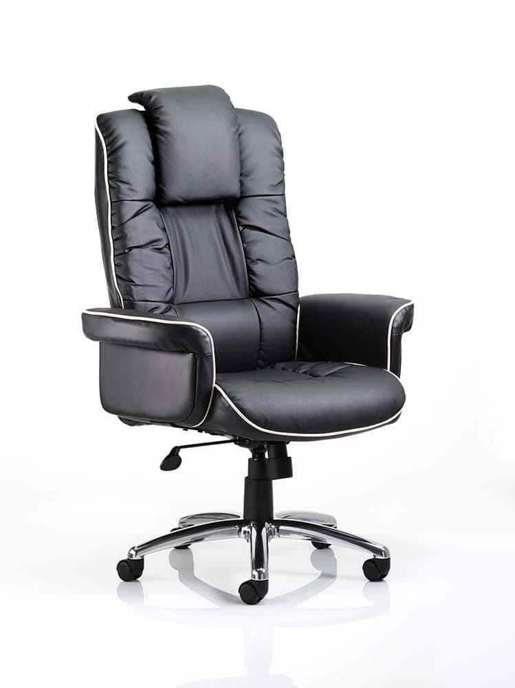 Chel Leather Swivel Adjustable Office Chair - Black