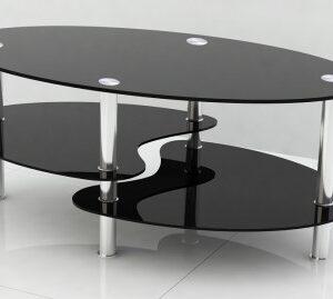 Stila Coffee Table - Black Tempered Glass