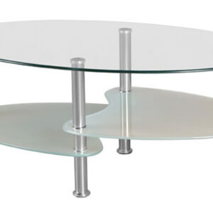 Stila Coffee Table 2 Tier - Clear And Frosted Glass