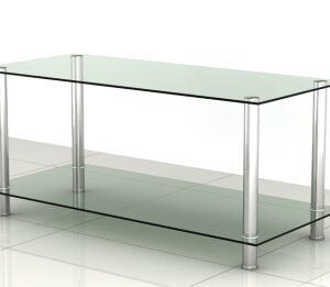 Hester Coffee Table - Glass 2 Shelves