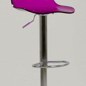 Haley Purple Acrylic Perspex Kitchen Breakfast Bar Stool Height Adjustable