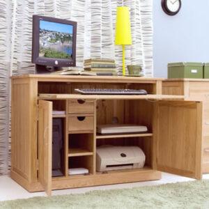 Ben Home Office Solid Oak Desk - Pre Assembled