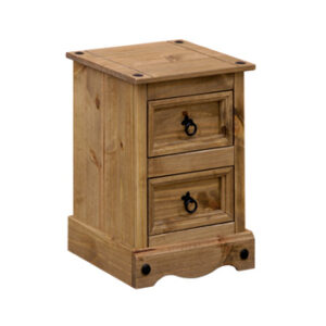 Pereza Mexican Pine 2 Drawer Petite Bedside Cabinet