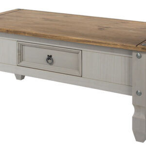 Coson Grey Pine Coffee Table With Drawer