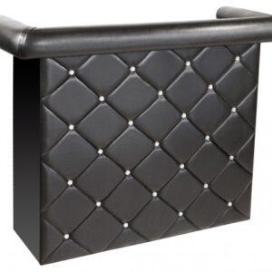Carston Crystal Diamant Cushioned Bar Drinks Counter Unit - Black