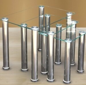 Limpid Clear Glass And Chrome Nest Of Tables - Clear