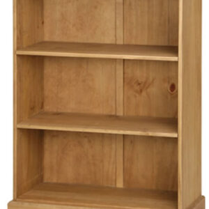 Dorset Traditional Pine 3 Shelf Low Bookcase