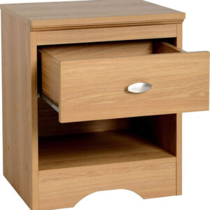 Chappa 1 Drawer Bedside Cabinet In Teak Effect Veneer