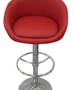 Cuper Red Faux Leather Breakfast Bar Stool Height Adjustable