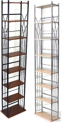 Dak Storage Shelf Tower Unit Black and Black finish