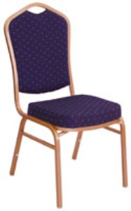 Nadia Diamond Steel Banqueting Chair - Padded