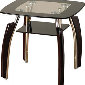 Elenor Black And Clear Glass Lamp Table