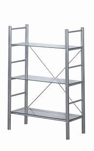 Alloy Occasional 3 Tier Metal Frame Glass Shelves