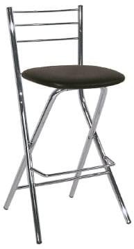 Falcon Folding Kitchen Breakfast Bar Stool Chrome Frame