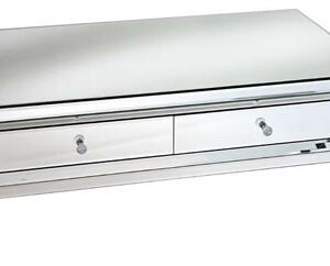 Madison Sophisticated Mirror Glass Coffee Table - 4 Drawers