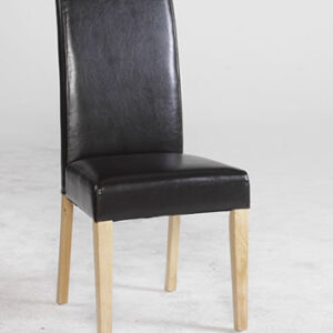 Floria Byecast Leather Dining Chair